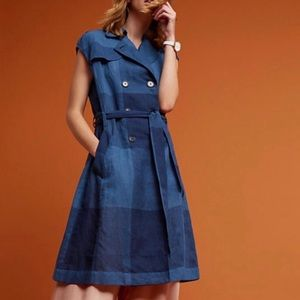 Anthropologie Eva Franco checkered dress